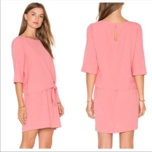 Cupcakes and Cashmere Tenley Pink Side Dress